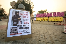 India's move towards entering the GATS is, as the students argue, a decisive manifestation of its grander neoliberal motives. The agreement, if successful, would emulate the capitalist model of the retail sector into the educational setup, permitting large foreign universities to establish their 'outlets' in India. The government's rationale draws along the line of modernising and globalising India's higher education. The counter-narrative is interesting: rather than bettering our higher education system, the students claim, such a 'globalised' framework of profit-based service delivery would perpetuate the West's 'neo-imperialistic' designs of draining cheap manpower from India, in return for limited or no returns. While they might reign supreme in the physical infrastructure, the high costs would immediately disenfranchise a sizeable portion of India's young population from their inherent right to gain quality education. To think about it, what real meaning would a 'modernised' educational framework that is inaccessible to a large fraction of the country's citizenry, hold?