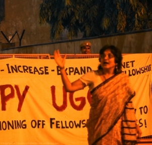 """""""The older generation of Indian capitalists and industrialists cooperated and agreed with us when we argued that there should be absolutely no dilution in the country's educational framework. We did not want our students to merely end up in low-paying professional jobs, but rather emerge as individuals who could think critically and question. But today, we have no such credible backing. This has resulted in an educational system that is overtly skill-based, rather than knowledge-based. The emphasis has shifted to producing a professionally-skilled workforce, rather than an intellectually-endowed body of young citizens."""" Ms. Narain also mentioned how her own university (Delhi University) has rapidly degraded over the past few years, due to the several regressive policy measures undertaken by the government - in the likes of the Semester System and the Choice-Based Curriculum. These changes have only watered down the entire academic setup by limiting the avenues for in-depth intellectual exploration by the students."""