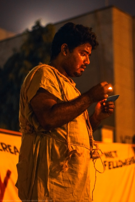 Initially, the normative idea behind the play seemed abstract and out-of-place to me. Deeper introspection revealed a stellar link to #OccupyUGC: while Man, with his natural mix of reticence and defiance, represented the protestors, while Knowledge with its dogmatic convictions and Machiavellian shrewdness, reflected the State. Both are trapped in a vicious cycle of power and control - one that is incredibly difficult to escape.