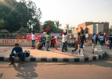 Although the turnout was less than impressive, the participants present prepared and planned the march with uncompromising sincerity and revolutionary zest.