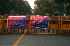 What was utterly dismaying was the excessive form of the police blockade - the imposition of Section 144 of the Criminal Procedure Code (CrPC) in the area. This section legally sanctions the local District Magistrate, Sub-District Magistrate or an immediate subordinate to prohibit the assembly of more than 10 people. To be used in exceptional situations of public disorder, Section 144 is routinely overused, often arbitrarily, by the administration to suppress even the slightest forms of demonstrative rallying. This poorly-worded Delhi Police banner, moreover, credits the Assistant Commissioner of Police (of New Delhi sub-district) with the imposition of the order. Whether this a permissible authorisation, or a bypassing the actual legal statute is something to ponder over.