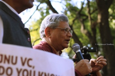 The 4 March rally saw participation from establishment politicians from the left. Seen here is Sitaram Yechury, General Secretary of Communist Party of India (Marxist)