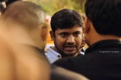Kanhaiyaa Kumar - one of the three poster boys of sedition - made an appearance in the 4 March rally. However, he did not speak to the public from the dais, rather choosing to only deliver statements to the media